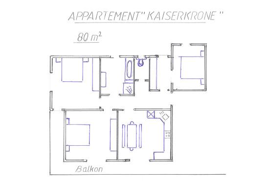 Ferienwohnung Kaiserkrone - Ferienhaus Mitterer - Flachau