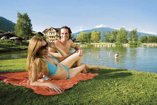 Sommerurlaub Flachau - Baden - Schwimmen - Ferienhaus Mitterer